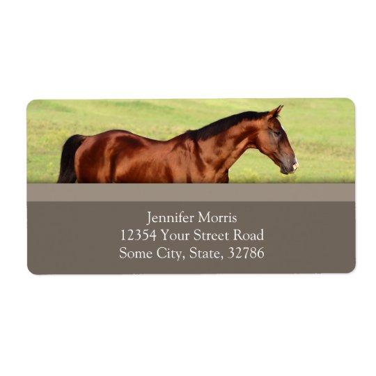 Beautiful Bay Horse Shipping Label