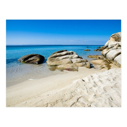 Beautiful beach at the Mediterranean Sea Postcard