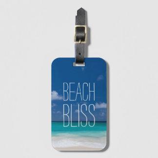 Beautiful Beach Bliss Bag Tag