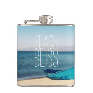 Beautiful Beach Bliss Hip Flask