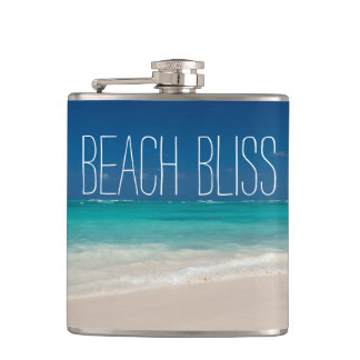 Beautiful Beach Bliss Hip Flask