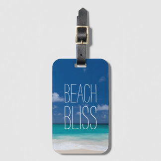 Beautiful Beach Bliss Luggage Tag