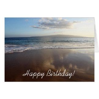 Beautiful Beach Happy Birthday Card