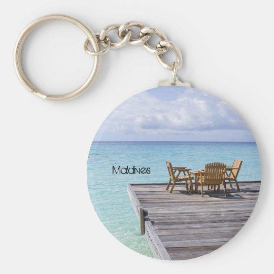 Beautiful beach in maldives key ring