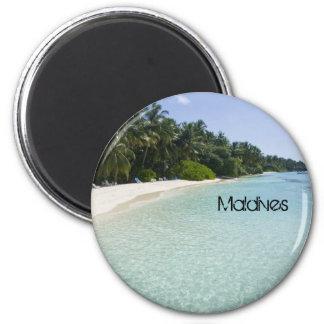 Beautiful beach in maldives fridge magnet