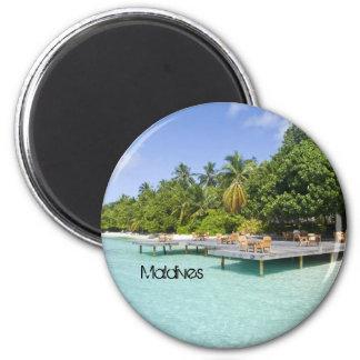 Beautiful beach in maldives magnet