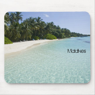 Beautiful beach in maldives mouse mat