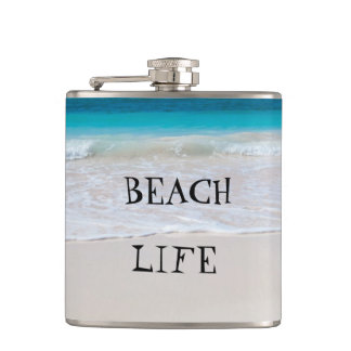 Beautiful Beach Life Hip Flask