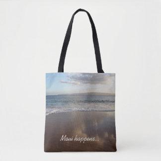 Beautiful Beach Maui Happens Tote Bag