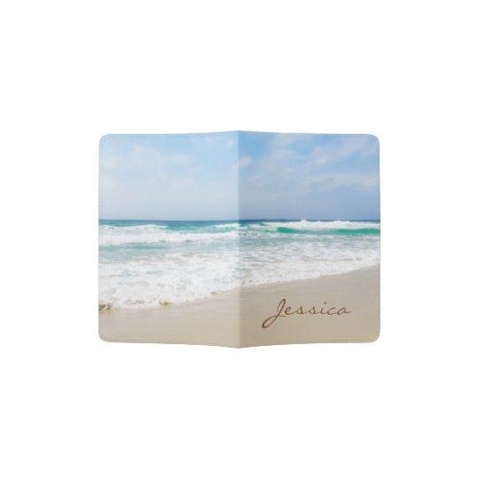 Beautiful Beach Personalised Name Passport Holder
