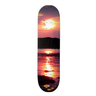 Beautiful Beach Sunrise Skate Board