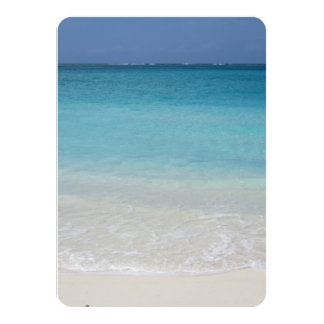 Beautiful Beach   Turks and Caicos Photo 11 Cm X 16 Cm Invitation Card