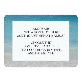 Beautiful Beach   Turks and Caicos Photo 13 Cm X 18 Cm Invitation Card