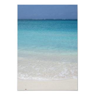 Beautiful Beach   Turks and Caicos Photo 9 Cm X 13 Cm Invitation Card