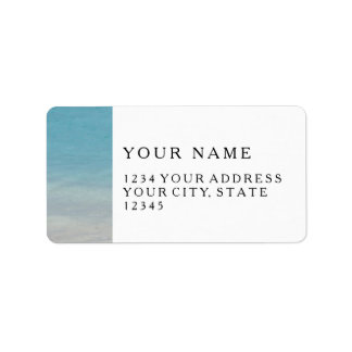 Beautiful Beach   Turks and Caicos Photo Address Label
