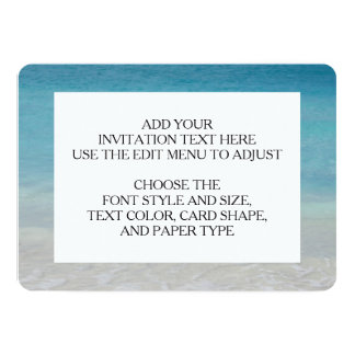 Beautiful Beach | Turks and Caicos Photo 13 Cm X 18 Cm Invitation Card