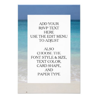 Beautiful Beach Turks and Caicos Photo Personalized Announcement