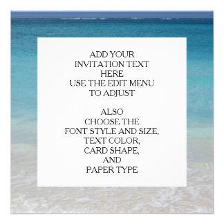 Beautiful Beach Turks and Caicos Photo Custom Invitations
