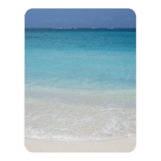 Beautiful Beach | Turks and Caicos Photo 11 Cm X 14 Cm Invitation Card