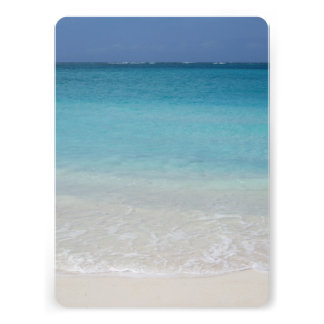 Beautiful Beach Turks and Caicos Photo Personalized Announcements