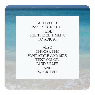 Beautiful Beach | Turks and Caicos Photo Personalized Invitation