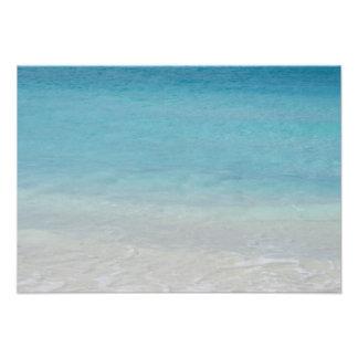 Beautiful Beach Turks and Caicos Photo Personalized Invitation