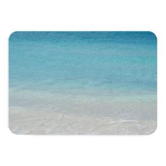 Beautiful Beach | Turks and Caicos Photo 9 Cm X 13 Cm Invitation Card