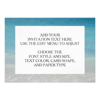 Beautiful Beach Turks and Caicos Photo Invites