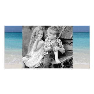 Beautiful Beach | Turks and Caicos Photo Personalized Photo Card