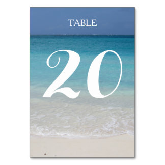 Beautiful Beach | Turks and Caicos Photo Table Cards