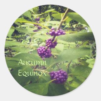 Beautiful Beauty Berry Autumn Equinox Mabon Classic Round Sticker