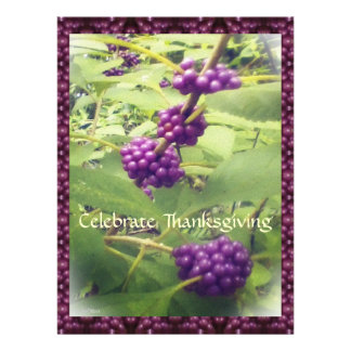 Beautiful Beauty Berry Thanksgiving Botanical Custom Invite