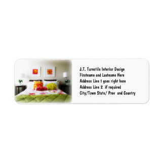 Beautiful Bed and Bedroom Decor Return Address Label