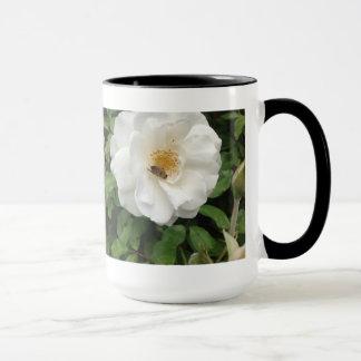 Beautiful Bee On Rose Fine Art Nature Photography Mug
