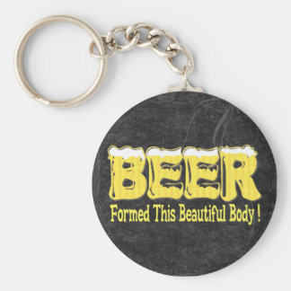 Beautiful Beer Body Basic Round Button Key Ring