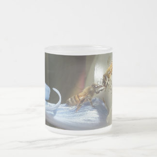 Beautiful Bees Frosted Glass Coffee Mug