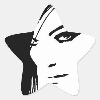 Beautiful Belle Model Face Stickers