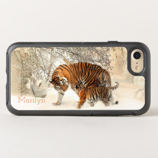 Beautiful Bengal Tiger and Cub in the Snow OtterBox Symmetry iPhone 8/7 Case