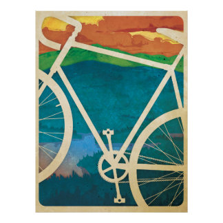 Beautiful Bicycle Artwork - Bike NY Poster