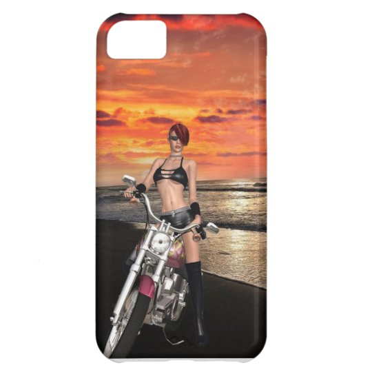 Beautiful Biker By The Sea iPhone 5C Case