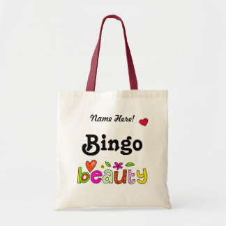 Beautiful Bingo Personalize Name Bingo Player Bag