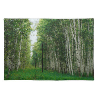 Beautiful Birch Tree Forest Art Placemat