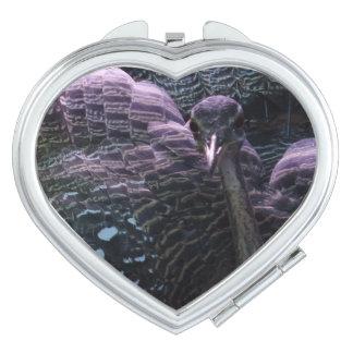 Beautiful Bird  Heart Compact Mirror