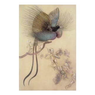 Beautiful Bird of Paradise by Warwick Goble Poster