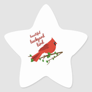 Beautiful Bird Star Sticker