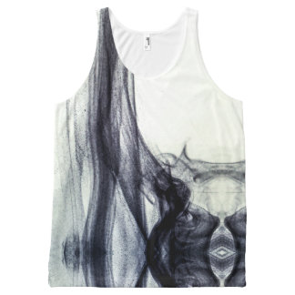 Beautiful Black and white Abstract smoke All-Over Print Tank Top