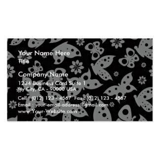 Beautiful Black and White Butterflies Business Card Template