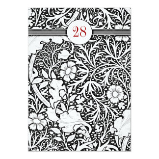 beautiful black and white damask birthday invites