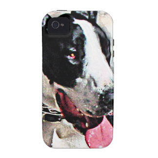 Beautiful Black and White Dog iPhone 4 Cover