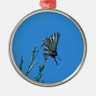 Beautiful Black And White Swallowtail Butterfly Christmas Ornament